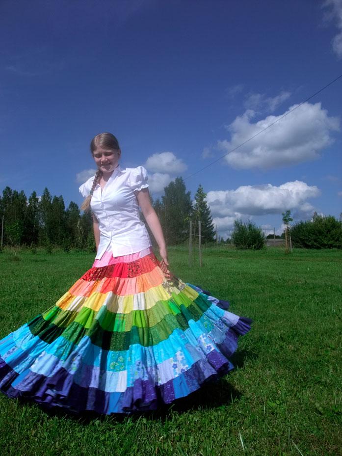Voluminous skirt