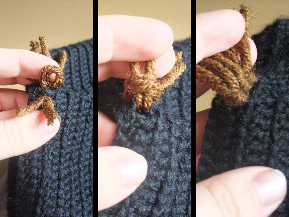 Knotting close-up