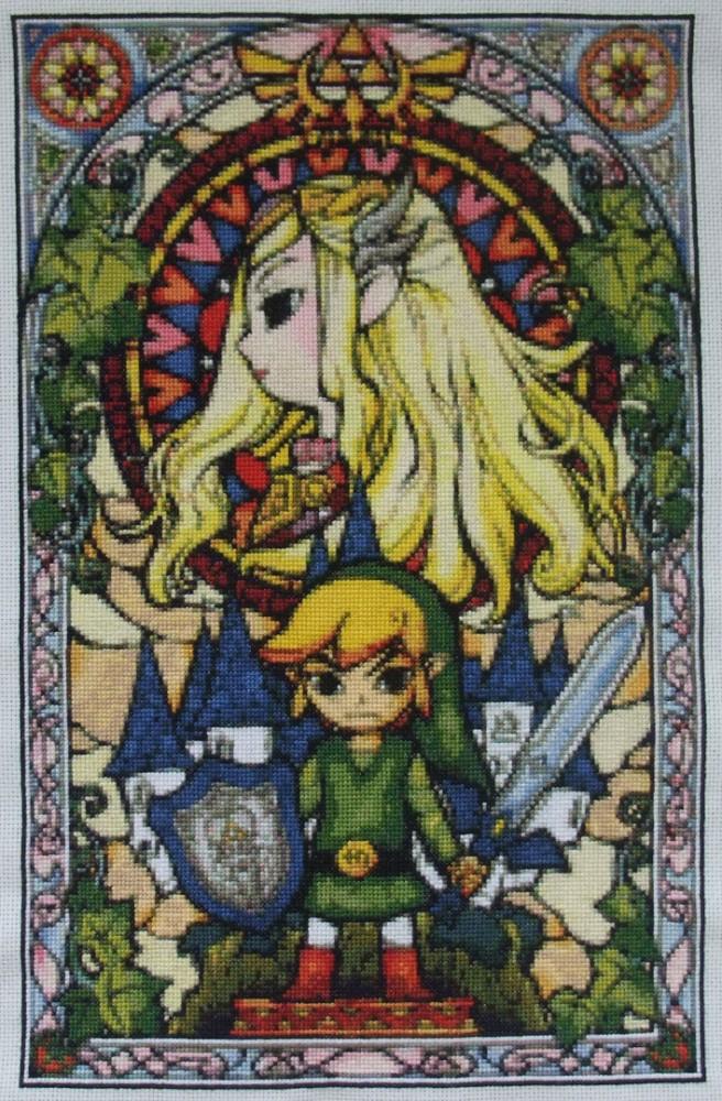 Zelda Stained Glass Window Finished Eponases